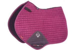 LeMieux ProSport Suede Close Contact Square Saddle Pad Plum