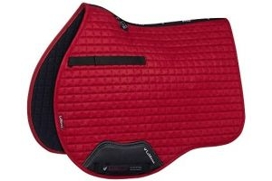 LeMieux Unisex's GP Suede Square Chilli Saddle Pad, Large