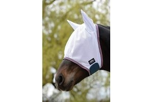 Weatherbeeta Comfitec Airflow Mask (Pony) (White/Sea Green/Pink)