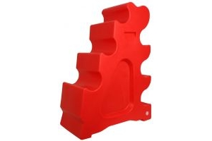 Classic Showjumps Sloping Jump Block Red
