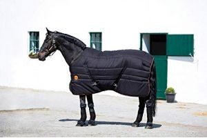 Horseware Rambo Ionic 200g Stable Rug - Black/Black/Orange: 6ft3