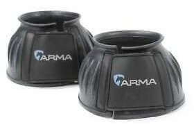 Shires Arma Touch Close Over Reach Boots Black Size Cob