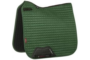 LeMieux Suede Dressage Square Saddle Pad Hunter Green