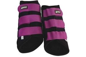 Roma Neoprene Brushing Boots (Pony) (Black/Purple)