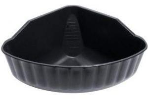 Waldhausen 1501801 Plastic Corner Manger, Black