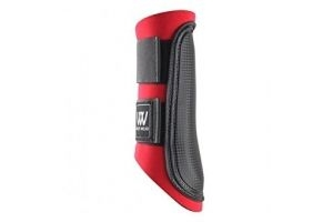Woof Wear Club Brushing Boot - Red/Black, Large by Woof Wear