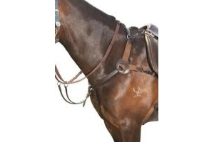 Kincade Leather 5 Point Breastplate Brown Warmblood