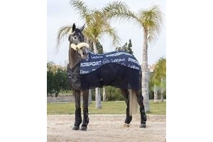 LeMieux Carbon Horse Cooler Rug - Navy Blue: 6ft0