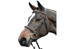 Collegiate Comfort Crown Padded Raised Cavesson Bridle Brown Full