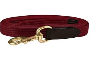 Kincade Leather Web Lead Rein-Burgundy
