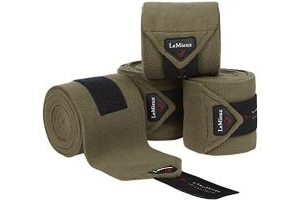 LeMieux Unisex's Fleece Polo Bandages Set of 4 Olive, Pony