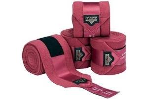 LeMieux Loire Satin Polo Full Size Bandages - French Rose (Set Of 4)