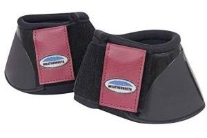 Weatherbeeta Impact Bell Boots Black/Maroon Cob