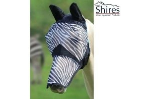 Shires Fine Mesh Fly Mask With Ears And Nose Extension, Pony Size