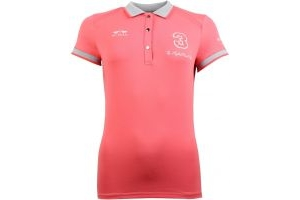 HV Polo Ladies Favouritas Tech Polo Shirt Bright Coral