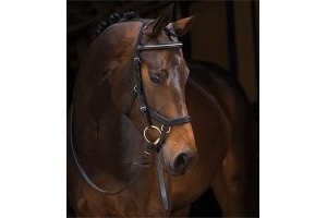 Rambo Micklem Diamante Competition Bridle Black Std Horse by Horseware
