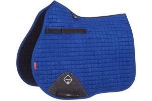 LeMieux ProSport Suede GP/Jump Square Saddle Pad Benetton Blue