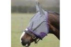 Saxon Fly Mask - Grey/Purple - Pony