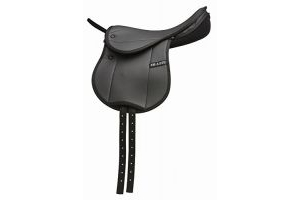 HI-LITE BAMBINO CHILDS FIRST SADDLE HORSE EQUESTRIAN RIDING TACK [BLACK] [14] by Shires
