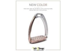 Tech Venice Adult Safety Stirrups (Rose Gold/Silver)