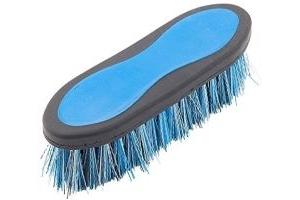 Shires Ezi-Groom Dandy Brush (Large)-Bright Blue One Size