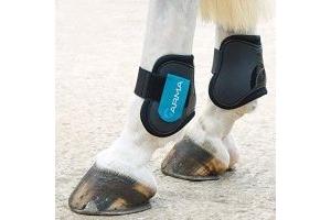 Shires ARMA Fetlock Boots Pony/Cob Black Teal
