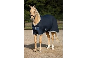 RAMBO Horseware Techni Waffle Cooler Rug - Navy/Beige/Baby Blue and Navy : 7ft0