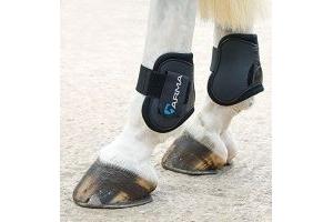 Shires ARMA Fetlock Boots - Pony/Cob-Black/Black Pony/Cob