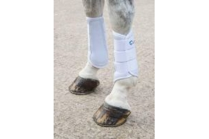 Shires Arma Neoprene Brushing Boots in White EXTRA Fulll, White