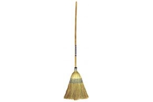 Faulks Red Gorilla Corn Broom Standard: Traditional