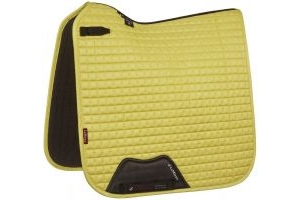 LeMieux Suede Dressage Square Saddle Pad Citron