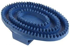 Shires Rubber Curry Comb Blue