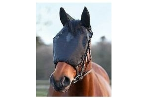 Equilibrium Net Relief - Riding Mask With Ears - Black - Size Pony - New