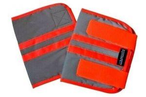 Equisafety Mercury Reflective Hi Viz Horse Leg Boots - Hi Vis ORANGE RED /Silver