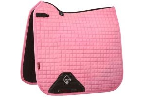 LeMieux ProSport Suede Dressage Square Saddle Pad Blush Pink
