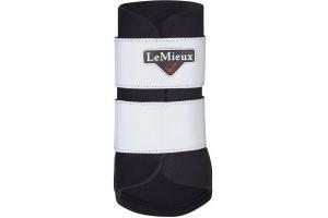 LeMieux Hi-Vis Brushing Boots Black