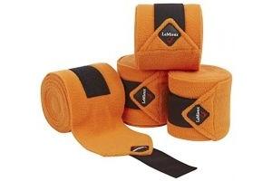 LeMieux Unisex's Fleece Polo Bandages Set of 4, Tangerine, Pony