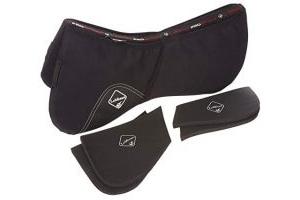 LeMieux ProSport Pro-Sorb System Half Pad, Black, Large