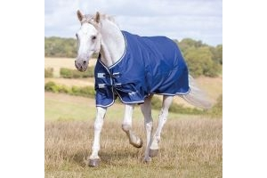 Shires Tempest Original 0g Lightweight Standard Neck Turnout Rug Navy/Grey