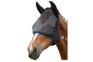 equilibrium Field Relief Midi Horse Fly Mask With Ears Small Black/Blue