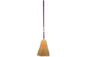 Faulks Corn Broom Purple