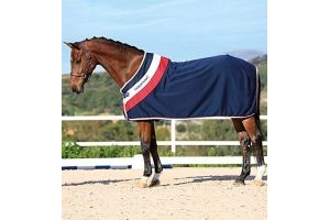Horseware Rambo Fashion Cooler Navy/Red & White 66/5ft6