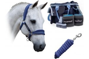 Horseware Rambo Horse Headcollar Grooming Bundle Royal Blue