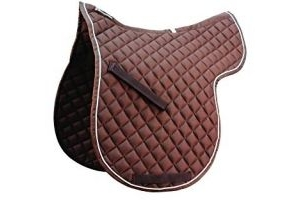 Roma Grand Prix High Wither All Purpose Numnah (Warmblood) (Brown/White)