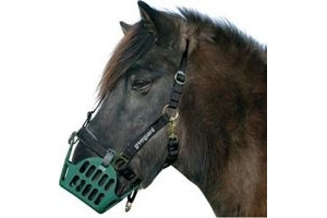 Nordic Medica Greenguard Willow Muzzle Feeding Brake Black Cob Thoroughbred
