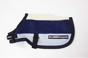 Horseware Rambo Dog Rug Deluxe Whitney Stripe, Medium, Navy