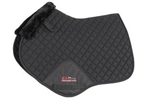 Shires Performance SupaFleece Jump Saddlecloth-Black Full
