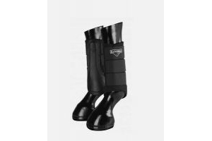 LeMieux ProSport Grafter Brushing Boots  black small tryed on