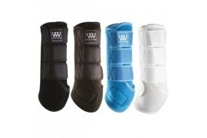 NEW WOOF WEAR DRESSAGE WRAP - PROTECTS HORSE AND PONY TENDON AND FETLOCKS (LARGE, WHITE)