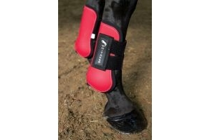John Whitaker Durable Horses Tendon & Fetlock Boot Set Red Cob